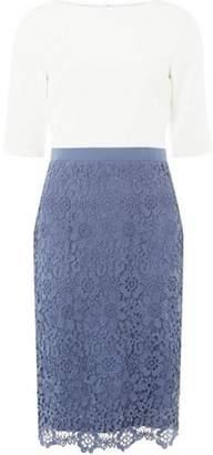Dorothy Perkins Womens **Showcase Blue and Ivory 'Okley' Lace Shift Dress