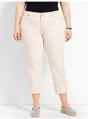 Talbots Natural Denim Straight Leg Crop