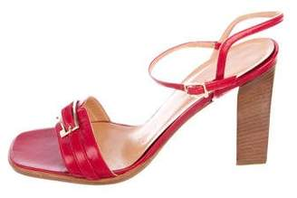 Max Mara Leather Platform Sandals
