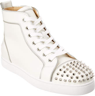 Christian Louboutin Lou Z Spiked Leather Sneaker