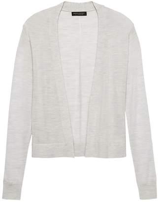 Banana Republic Machine-Washable Merino Wool Cropped Open Cardigan Sweater