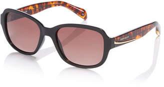 Karen Millen Black Oversized Sunglasses