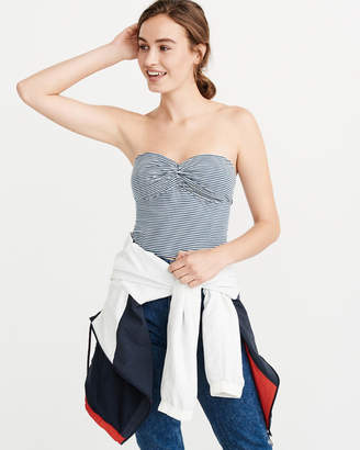 Abercrombie & Fitch Knot-Front Tube Top