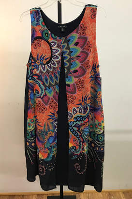 Tribal Attached Vest Dress