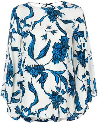 Schumacher Dorothee floral printed bell sleeve blouse