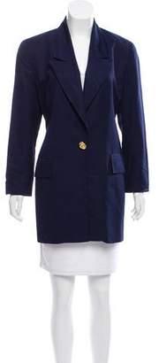 Christian Dior Woven Peak-Lapel Coat
