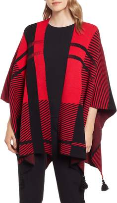 Ming Wang Hope Plaid Wrap