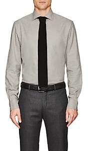 Ralph Lauren Purple Label Men's Houndstooth Cotton Shirt - Gray Pat.