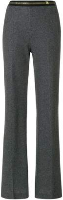 Class Roberto Cavalli panelled flared trousers