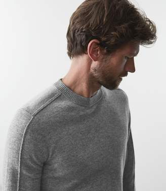 Reiss BOTHWELL SEAM DETAIL LONG SLEEVED TOP Grey