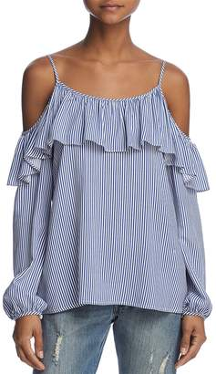 Aqua Striped Ruffled Tie-Back Top - 100% Exclusive New Styles Sale Online 1K9bwFrGF