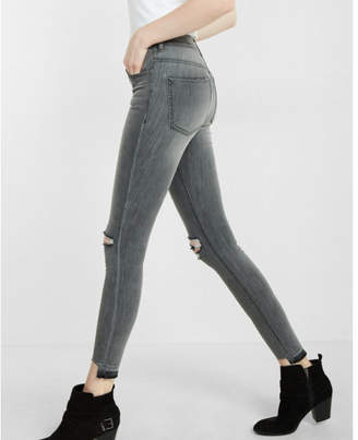 Express high waisted distressed knee and hem ankle jean legging $79.90 thestylecure.com