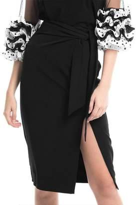 Gracia Black Midi Skirt
