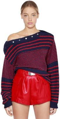 Philosophy di Lorenzo Serafini Oversize Striped Cotton Knit Sweater