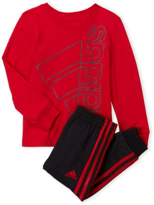adidas Toddler Boys) Logo Tee & Jogger Set