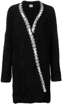 Pinko wrap fleece coat