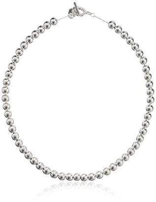 Chaps Women's 18Inch 8Mm Metal Bead Collar Strand Necklace