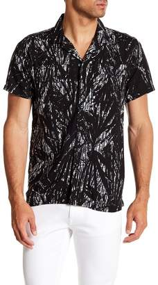 Kenneth Cole New York Palm Trees Short Sleeve Regular Fit Shirt