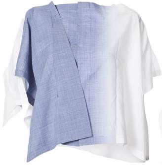 Issey Miyake 132 5. faded asymmetric blouse