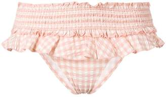 Tory Burch ruffled gingham bikini bottom
