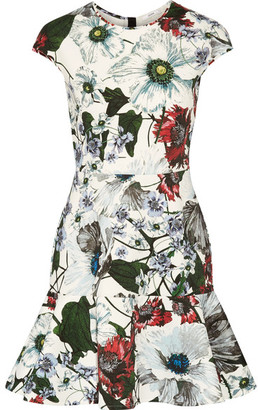 Erdem - Darlina Floral-print Neoprene Mini Dress - White $880 thestylecure.com