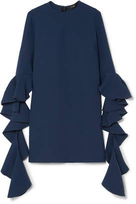 Ellery Kilkenny Ruffled Crepe Mini Dress - Navy
