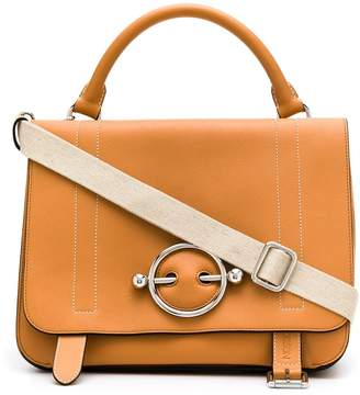 J.W.Anderson large contrast stitching Disc satchel
