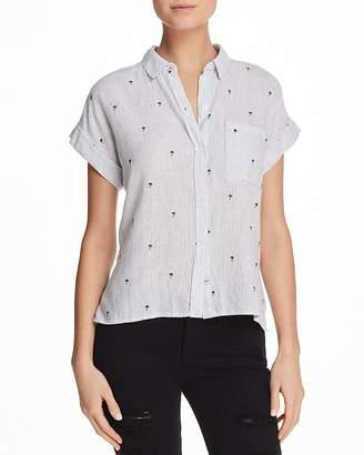 Rails Whitney Flocked Striped Shirt