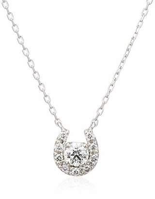 Vendome Aoyama (ヴァンドーム青山) - [ヴァンドーム青山] VENDOME AOYAMA K18 ホワイトゴールド ダイヤモンド 0.1ct ホースシュー 馬蹄 ネックレス AGBN638540DI