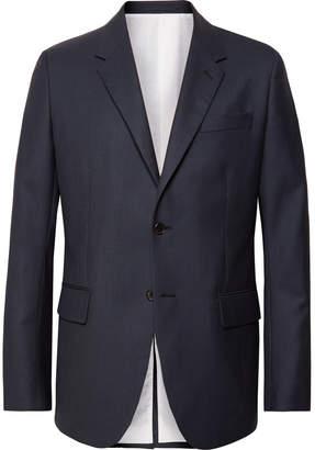 Calvin Klein Navy Puppytooth Wool Suit Jacket