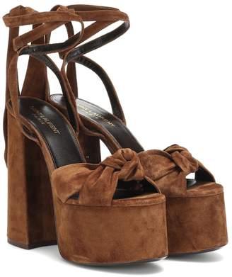 caf690133e980 Saint Laurent Paige suede platform sandals