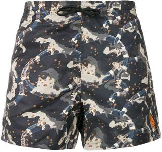 Marcelo Burlon County of Milan Camouflage swim shorts