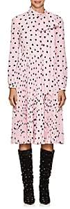 Valentino Women's Heart-Print Silk Dress - Pink