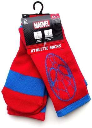 Marvel Mavel Youth 2 Pairs/Pack Athletic Spiderman Crew Socks