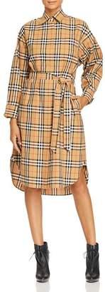 Burberry Isotto Plaid Shirt Dress