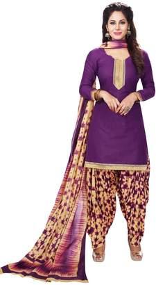 Sudarshan Silks CELEBRATION PATIALA SALWAR KAMEEZ DRESS MATERIAL-Dark Blue-BAALAR708-VM-Cotton