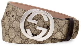 fbf1d9e31205 Gucci GG Supreme Belt w/Interlocking G
