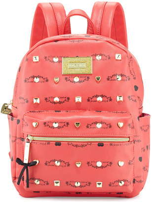 Betsey Johnson Studded Signature Mini Backpack, Guava $80 thestylecure.com