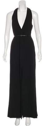 Halston Cutout Maxi Dress