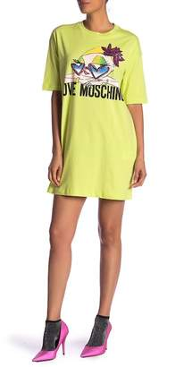 Love Moschino Donnina Logo T-Shirt Dress