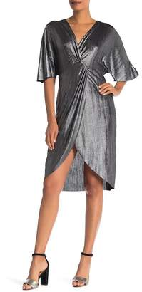 Vanity Room Dolman Sleeve Foil Knot Dress