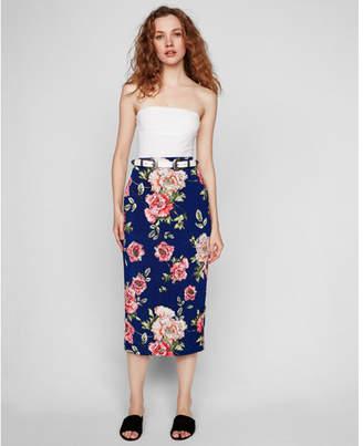 Express high waisted floral pencil skirt