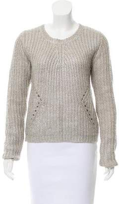 Line Coated Knit Sweater