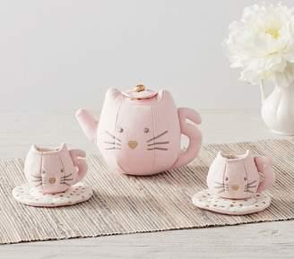 Pottery Barn Kids Kitty Soft Tea Set