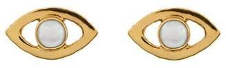 Cornelia Webb gold plated sterling silver pearl stud earrings