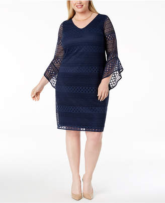 Alfani Plus Size Lace Shift Dress, Created for Macy's