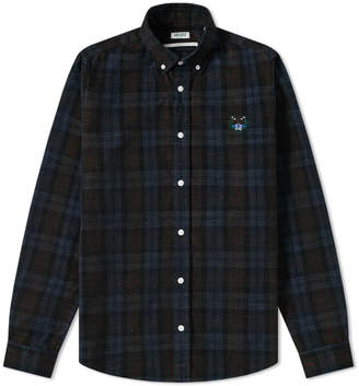 Kenzo Button Down Tiger Corduroy Check Shirt