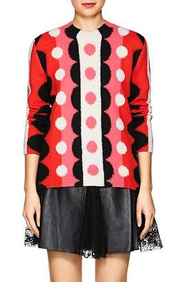 Valentino WOMEN'S DOTTED & STRIPED WOOL SWEATER