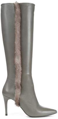 Donald J Pliner RAFELA, Nappa Leather and Mink Fur Boot