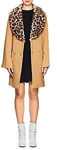 VIVETTA Women's Le Brun Faux-Fur-Trimmed Coat - Camel